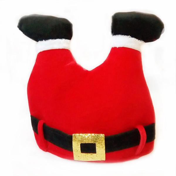 1 Adet Komik Noel Şapka Noel Baba Pantolon Şapkalar Yetişkin Çocuk Dekor Dekorasyon Parti Yeni Yıl Noel Hediye