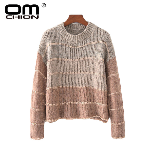 OMCHION Chaqueta Mujer 2018 Autumn Winter Gradient Mohair Sweater Women  Casual Loose Korean Warm Pullover Knitwear Jumpers LMM14 8f921a95e0eb