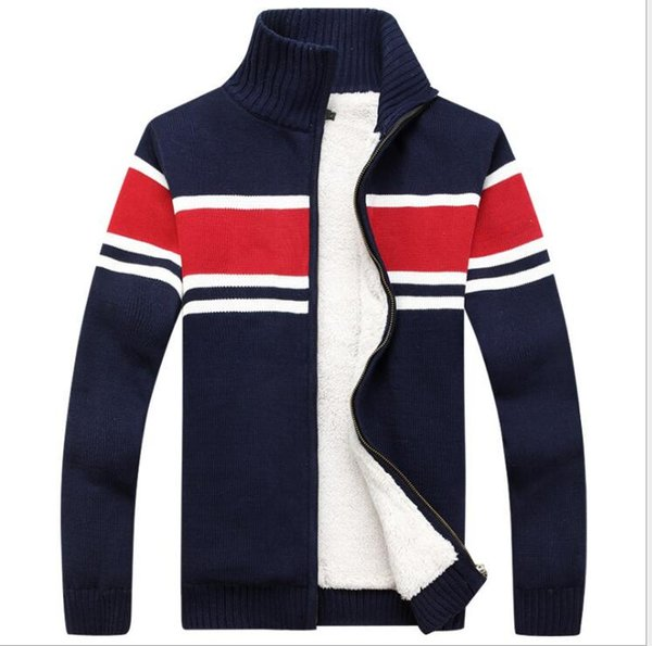 Thick New Fashion Brand Sweater For Mens Cardigan Slim Fit Jumpers Knitwear Warm Autumn Korean Style Casual Clothing Male