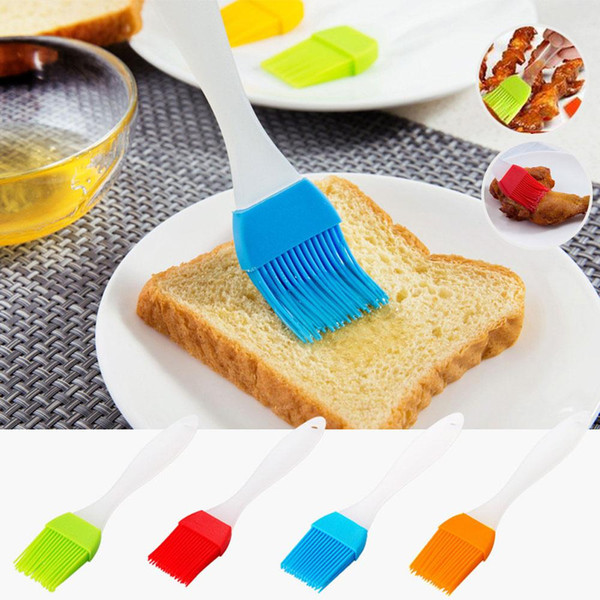 4pcs BBQ Tools Baking Silicone Bakeware Bread Home Party Cook Pastry Oil Cream Basting Brush Random Color