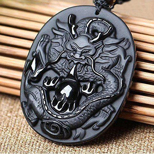 Uhren & Schmuck Chinese Zodiac Necklace Pendant Made of Obsidian Gemstone Horoscope Rabbit Halsketten & Anhänger