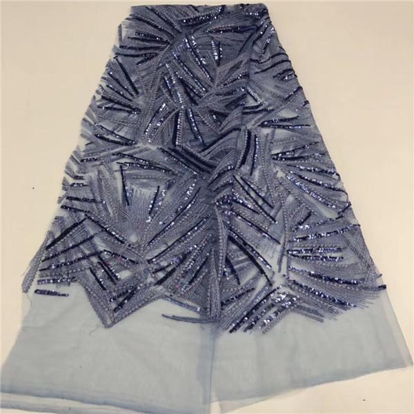 Vente en gros de tissus de dentelle de mariage gris argenté tissu de dentelle africaine française pour robe paillettes tulle dentelle tissu nigérian