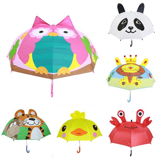 Животные Дети Зонтики Симпатичные Принцесса Девушки Парни Портативные Маленькие Зонтики Зонтик Для Возраст 2-6 Бесплатно DHL 678