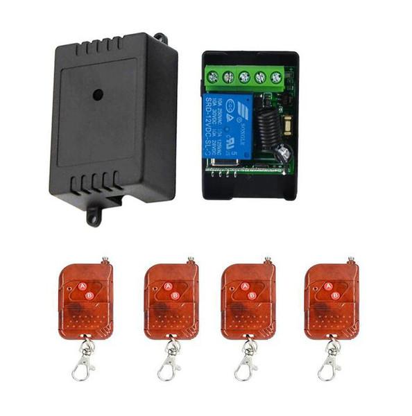 DC 12 V 1CH Module de relais Télécommande sans fil Switch Smart Home Controller Récepteur lumière de contrôle Porte de porte de garage 433mhz
