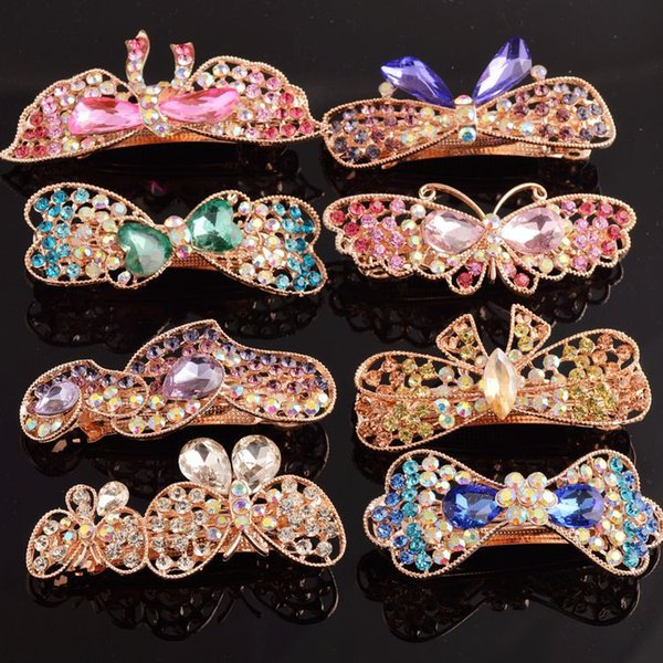 Hair Pieces for Women Girls Flower Headband 2018 Hair Clips Korean Style Barretts with Rhinestone Crystal Costume Jewelry Stores 10pcs New