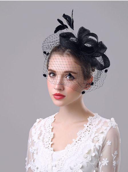 2018 New Hottest Vintage Hats Perfect Birdcage Headpiece Beads Bridal Net Hat Wedding Bird Cage Veils