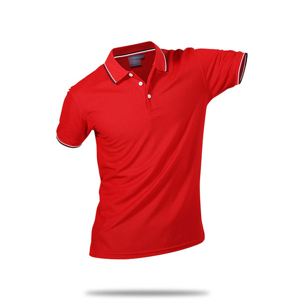 Summer Cotton Fitness Men Polo Shirt Short Sleeve Contrast Color Plus Size Famous Hombre Camisa Polo Sportwear Custom Print