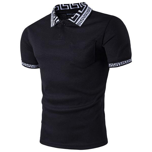 Long Polos Tees For Mens Brand Paisley Print T Shirt Free Shipping 2017 Pop O-Neck Short Sleeve Clothing