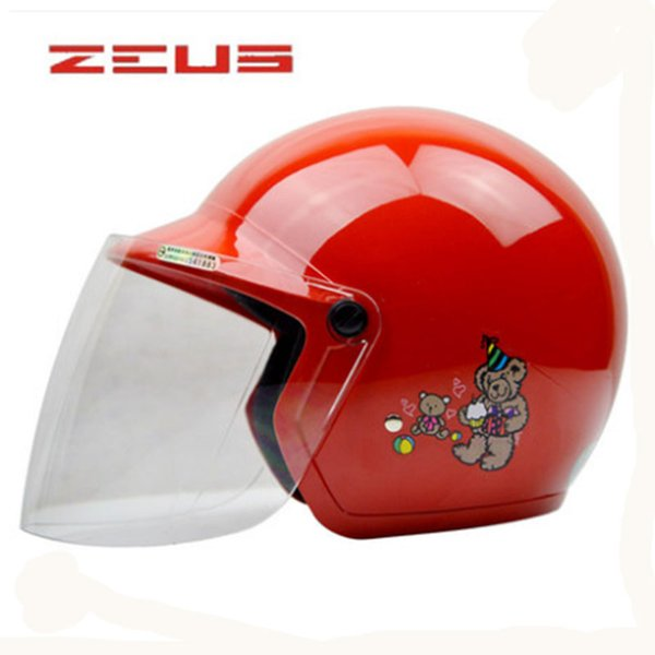 ZEUS 3-12 Years Children Motorcycle Helmet Protective Gear 42-56cm Helmet Easy Clasp Closure Motorbike Kids Bike Visor