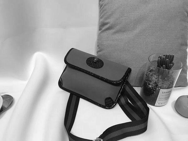 2018 dernière mode vente chaude GC degisn lettre impression en cuir véritable sac à main bandoulière rabat sac taille poitrine sac 489617