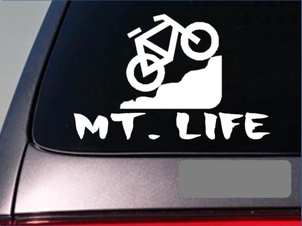15*9.6cm For Mt. Life Sticker Decal Mountain Bike Trail Bike Tires Peddals Bike Chain Car Accessories Car Sticker