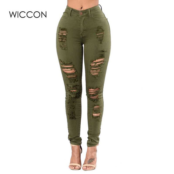 best selling New Fashion Plus Size 3XL Ripped Jeans Women Skinny Hole Ripped Denim Pants Female Fasion Casual High Waist Jeans