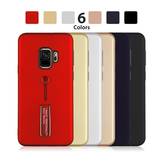 50P For Samsung S9 S8 Note 8 9 For Iphone XR XS XS Max 8 7 6 Phone Case Slid Card Holder Mobile Back Cover Protector Shockproof