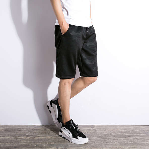 0958f137cfb Mens Summer Shorts Gym Shorts Sportwear Camouflage Short Pants for Male  Drawstring Sweat Shorts Pocket Mens