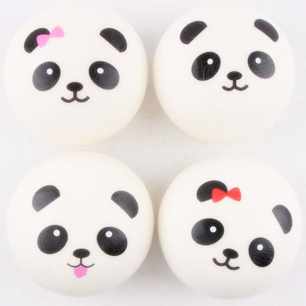 Acheter 10 Cm Mignon Dessin Animé Jumbo Chubby Noir Blanc Panda Pain Téléphone Pendentif Doux Panda Squishy Tête Charmes Courroie De Téléphone De