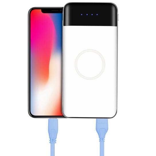 Nuovo caricabatterie wireless QI caricabatterie portatile USB e ricarica wireless 10000 mAh potenza mobile Caricabatterie wireless portatile spedizione gratuita