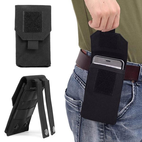 Bolso de nylon de la caja de la caja del teléfono móvil 1000D bolso táctico al aire libre de la cintura de la cadera de Molle para el iPhone x / Samsung / HuaWei