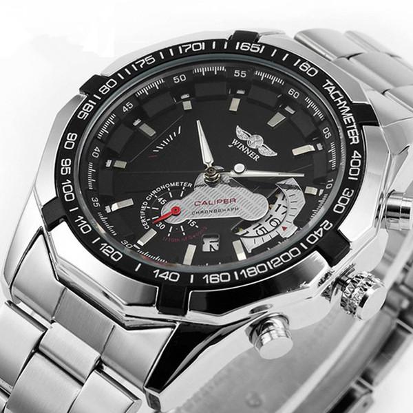 Relogio Masculino Winer Часы Автоматическая Дата Нержавеющая Сталь Механические Часы Мужчины Автоматические Мужские Часы Atmos