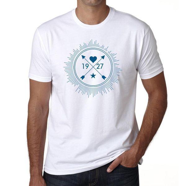 1927 Camiseta Col Rond Homme camiseta, ecualizador musical, Cadeau Ideal