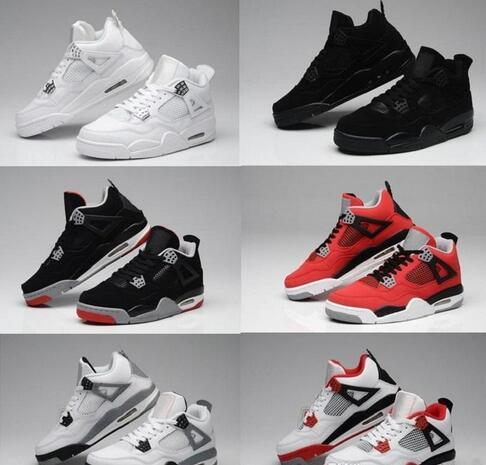 4e0b77b37ff71f Wholesale White cement 4s Fire Red 4 Green Glow Oreo FEAR TORO BRAVO ABOVE  shoe Best