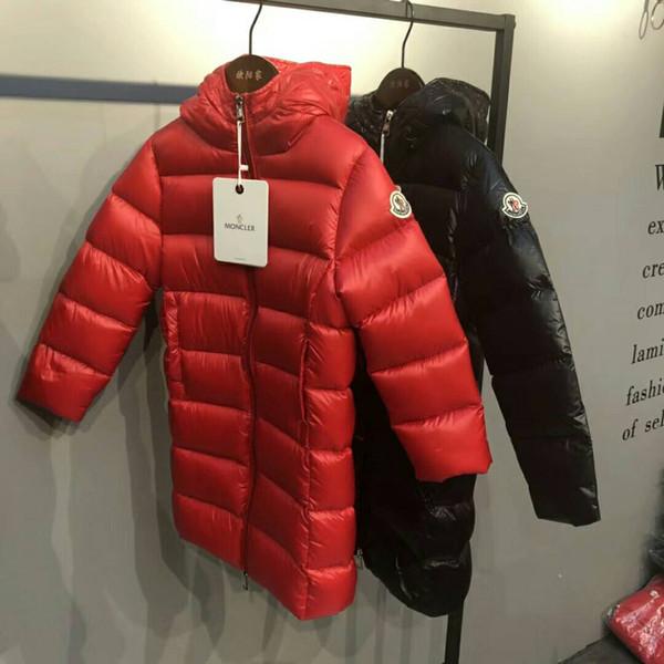 Marca crianças 90% de penas de pato Ultra light Meninos Meninas outono inverno crianças jaquetas bebê de comprimento médio para baixo casaco jaquetas outerwear