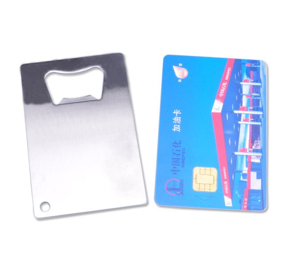 Personalized Credit Card Sized Bottle Opener Custom Company Logo Engraved / Printed Metal Business Card Bottle Opener