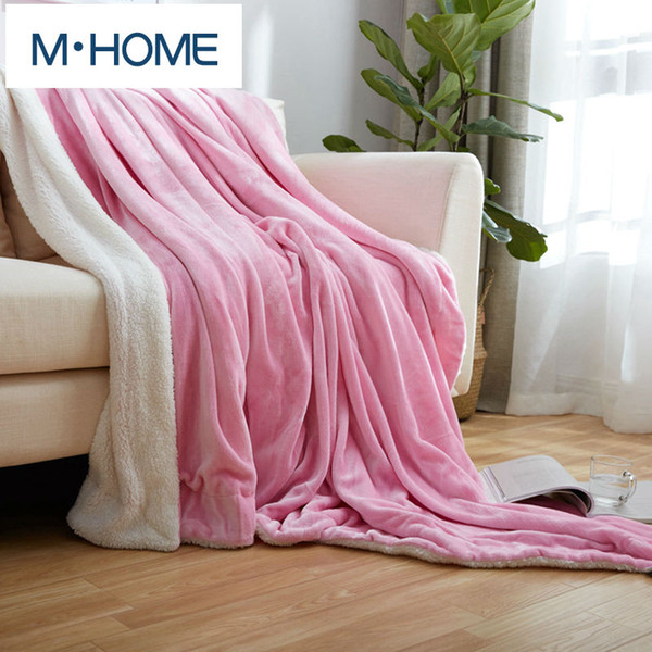 Solid Berber Fleece Blanket Soft Berber Fleece Thickening Double Layer Blanket Baby Bed Sheet Flannel Blankets Christmas