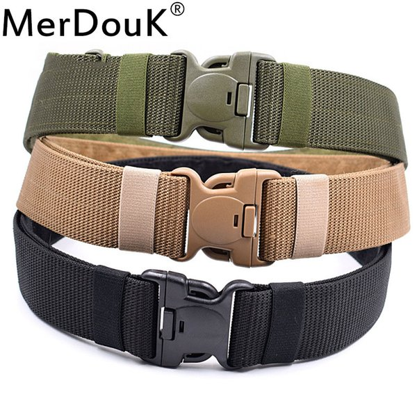 Men  Belt Tactical American Soldier S Belt Hunting Security Waistband Training Mountaineering Combat