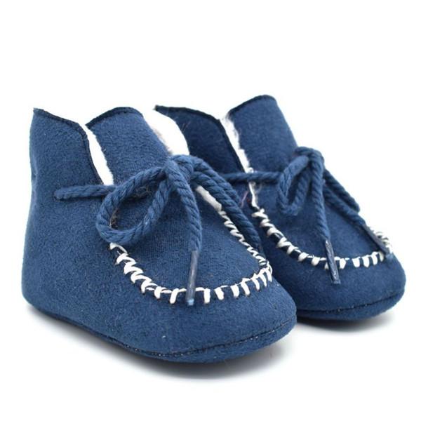 Inverno Neonate Scarpe da bambina Neonato Pelliccia calda Stivaletti di lana Montone in vera pelle di capretto