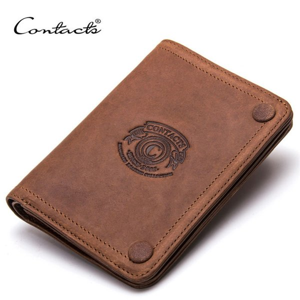 Designer Mens Wallet Card Holder Genuine Leather Luxury Designer Brand Men Wallets Vintage Mens Wallet With Picture Holder