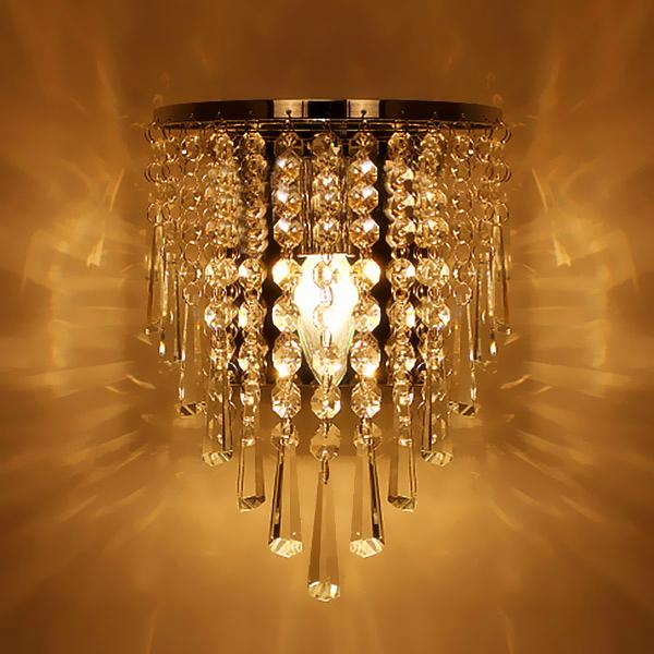 Modern Crystal Chandelier Wall Light Lighting Fixture E14 LED wall Lights led lamps