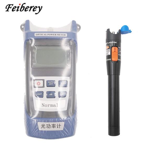 Livraison gratuite 2 in1 FTTH Fiber Optic Tool Kit Fiber Optique Mètre -70 + 3dBm et VFL 10mW Visual Fault Locator