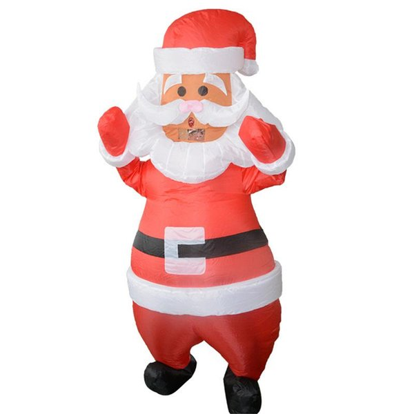 Merry Christmas Santa Claus Shape Inflatable Clothing Performance Dress Up Props Shopping Mall Decoration