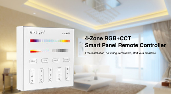 Mi Light B0 B1 B2 B3 B4 B8 4-Zone 8Zone 2.4G Wireless Brightness Dimming/CCT Adjust/(RGB/RGBW)/RGB+CCT touch Panel controller