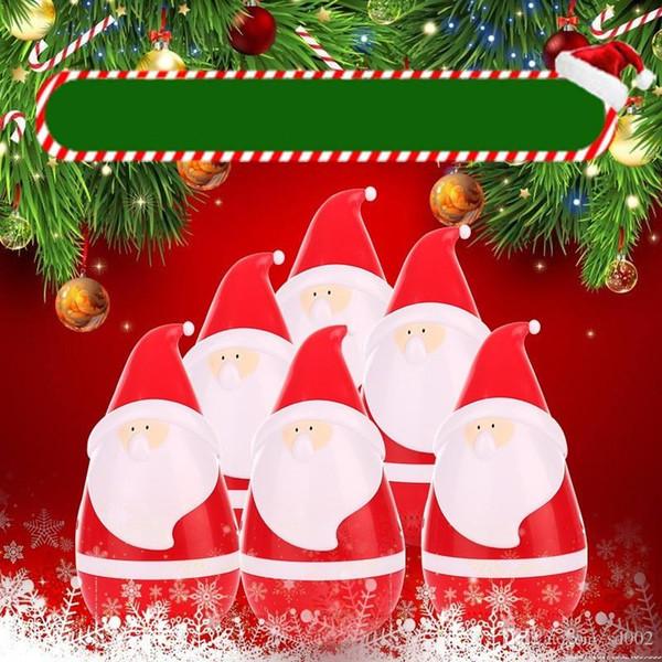 Creative Sound Box Plastic Cartoon Christmas Santa Claus Speaker Lovely USB Charging Tumbler Loudspeaker Boxes For Gift 42af ff