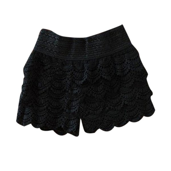 Summer Fashion Womens Shorts Sweet Lace Crochet Elastic Waist Slim Short Pants