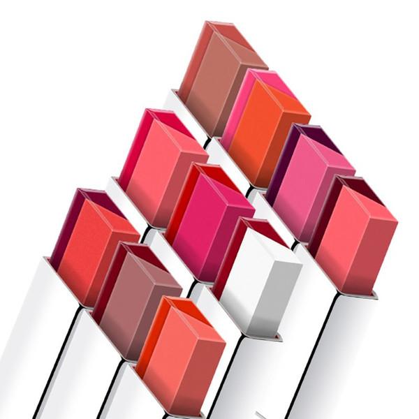 Lápiz labial de maquillaje de corea de maquillaje de labios de maquillaje de labios de maquillaje de labios de maquillaje de labios de doble color natural brillo 10 Nuevo