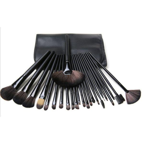 Professional Makeup Brushes Set 24pcs Portable Full Cosmetic Make up Brushes Tool Foundation Eyeshadow Lip brush with Bag
