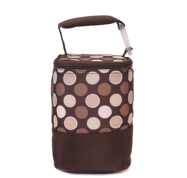 Il poliestere della borsa isolato bottiglia dell'alimentatore delle donne incinte tiene caldo conveniente porta la fibra marrone blu moda bambino nuovo arrivo