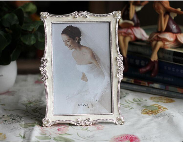 Factory Direct 6 7 8 Inch Metal Photo Frames For Picture European Foto Frame Table Decor Christmas Gifts Home Interior Design Home Interior Design