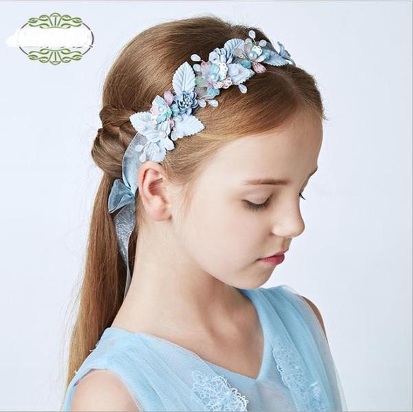 Bridal garlands, pearl headwear, seaside head wedding accessories, flowers, children's hair belts