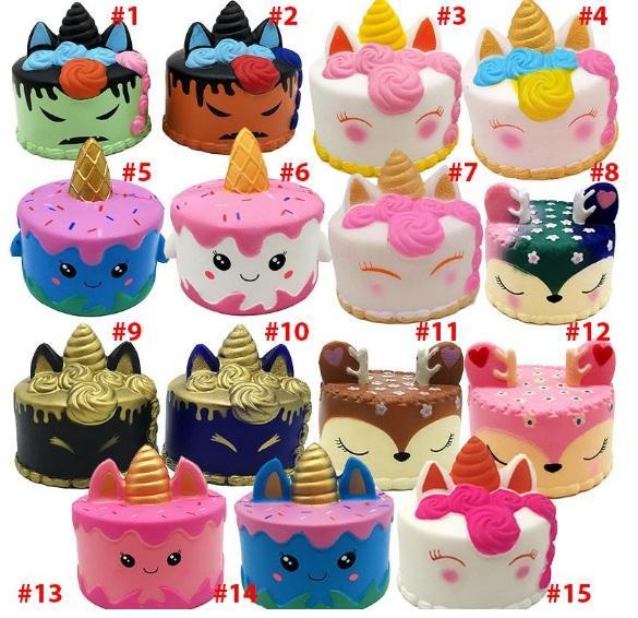 Acheter Squishy Cutepink Licorne Jouets 11cm Coloré Dessin Animé Licorne Gâteau Queue Gâteaux Enfants Amusant Cadeau Squishy Slow Rising Squishies