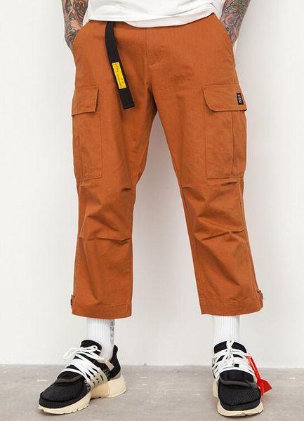JIN JUE LES Mâle Jogger Casual Plus Taille Coton Pantalon Multi Poche Style Armée Vert Orange Hommes Pantalon Cargo
