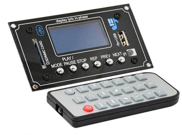 Portable Audio Video 3 Players 12V Lyric Show Bluetooth MP3 Decoding Board USB/SD/AUX/FM DIY MP3 Decoder board for car digital LED Record