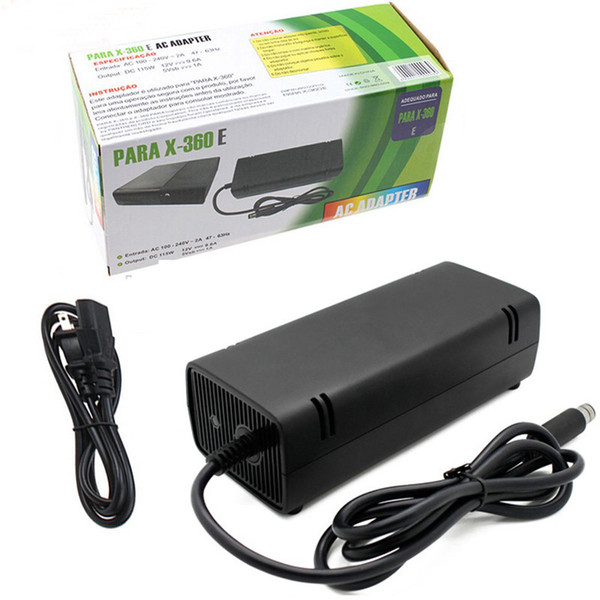 EU US Plug AC Adapter Power Supply Cord Charging Charger with Cable for XBOX 360 E Slim DHL FEDEX UPS EMS FREE SHIPPING
