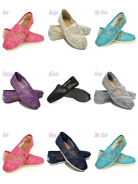 Casual Shoes Women Classics TO MRS Loafers Canvas fashion Lace crochet Hollow out Slip-On Flats shoes Lazy shoes size 35-40 free shipping k7