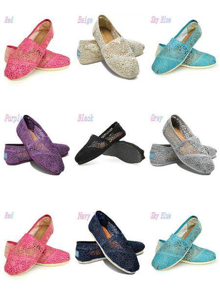 캐주얼 신발 Women Classics to MRS 로퍼 캔버스 패션 레이스 크로 셰 뜨개질 슬립 온 플랫 신발 레이지 슈즈 35-40 사이즈 k7 무료 배송
