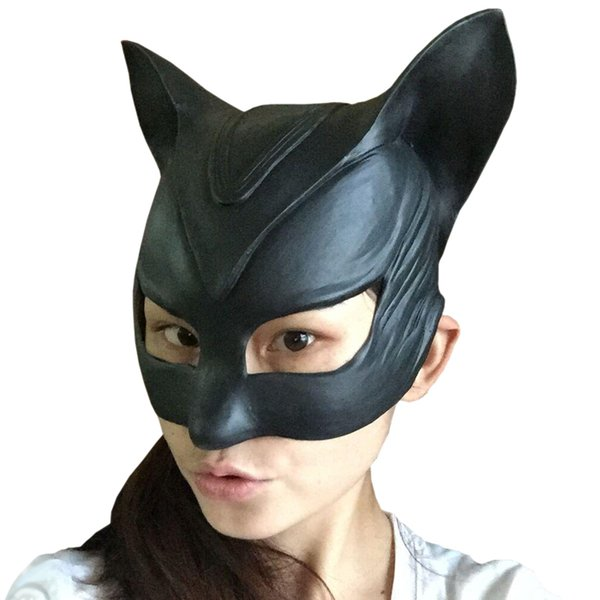 2015 Halloween Women Eyeshade Game Fetish Goggles Party Catwoman Latex Mask scary halloween props