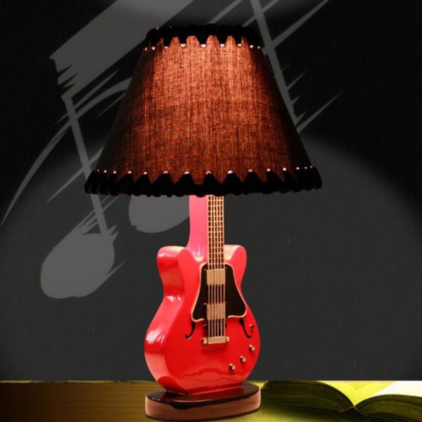 1 Pieza Novedad Lámpara de Mesa Lámpara de Guitarra Mesa de Mesa Idea Única de Regalo para el Amante de la Guitarra Decoración para el hogar Iluminación LED de Interior
