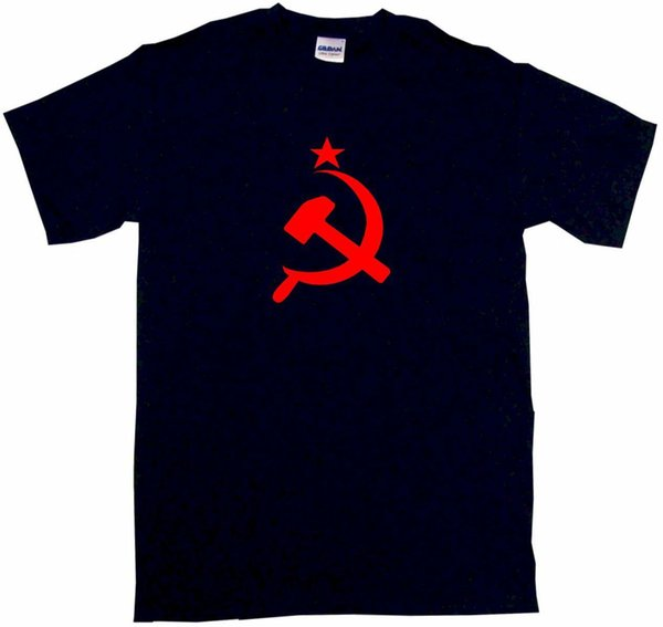 Russian CCCP Hammer & Sickle Flag Logo Mens Tee Shirt Pick Size Color Small Funny free shipping Unisex Casual tee gift